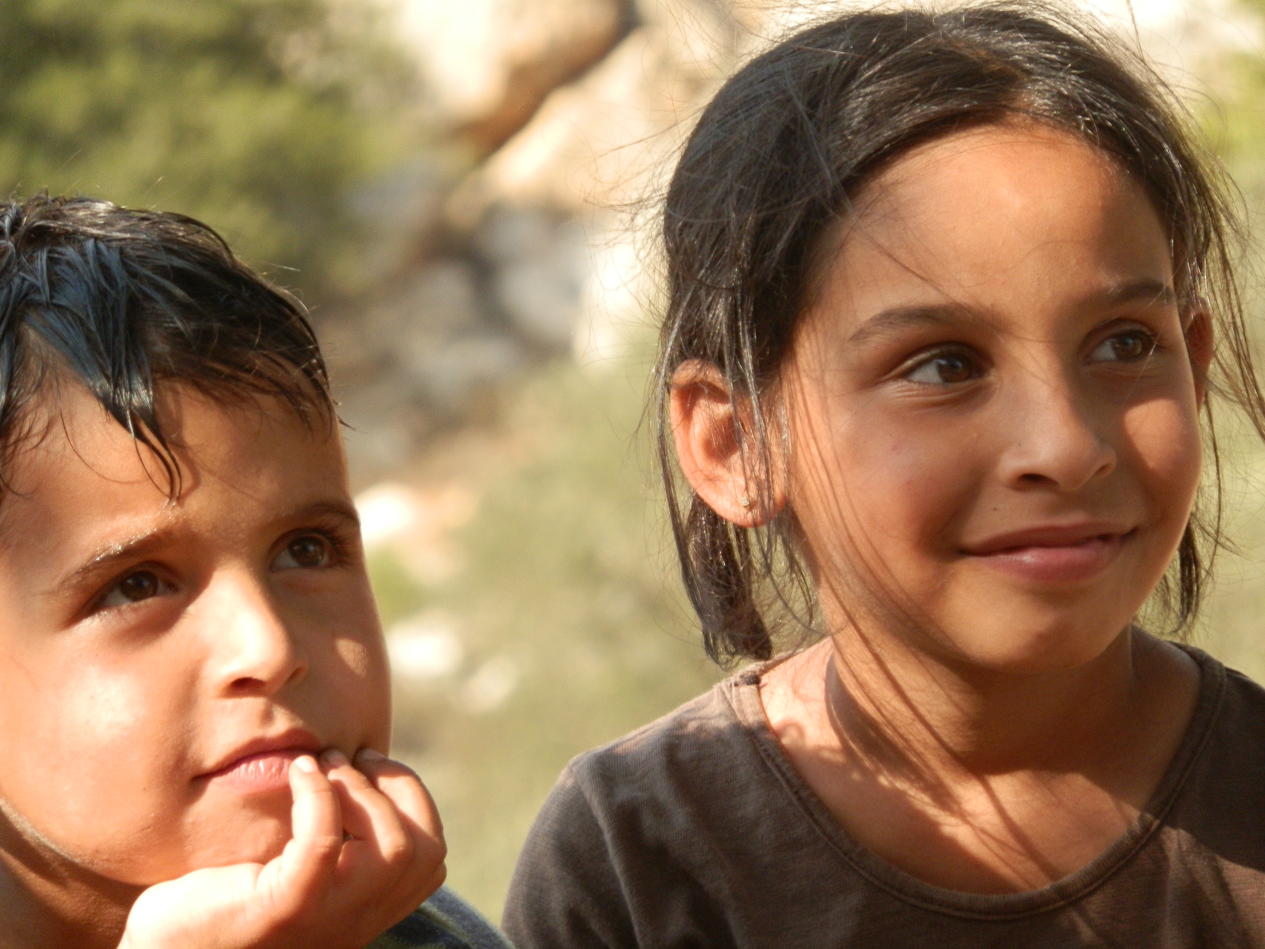 Israel confiscated the family land of these two siblings to build the illegal Apartheid Wall in the West Bank.  I watched as it happened.