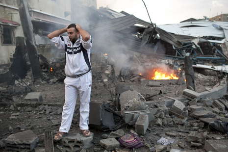 Israeli strikes in Gaza destroy office of Hamas premier.