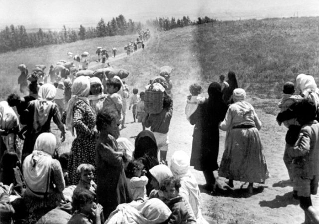 refugees near tulkarem, summer 1948